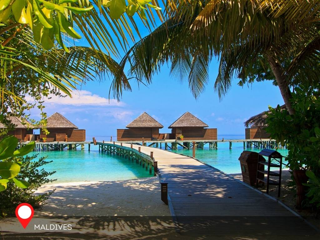 maldives, best place to go on vacation