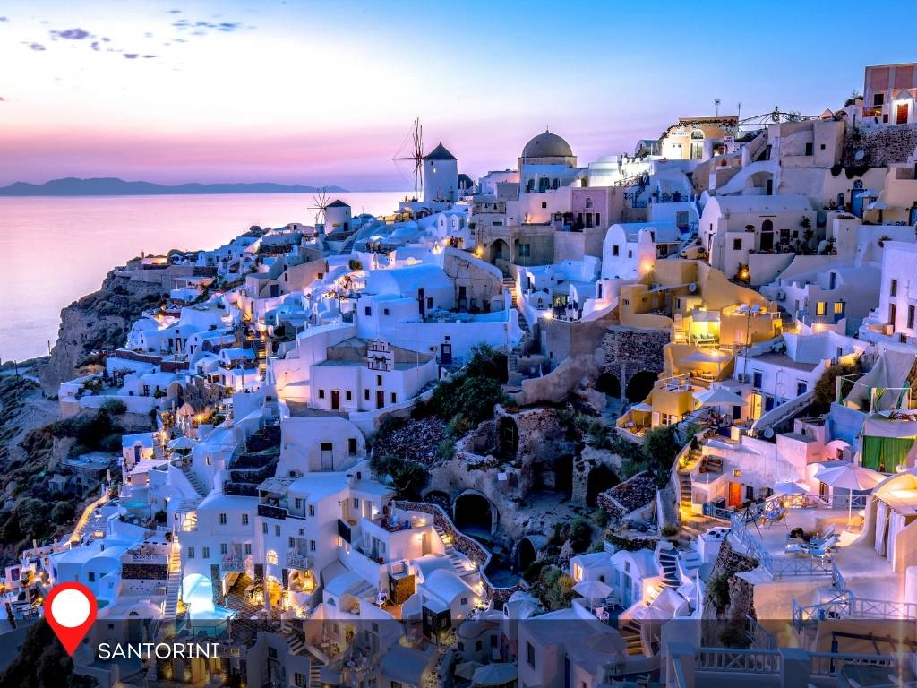 santorini, best place to go on vacation