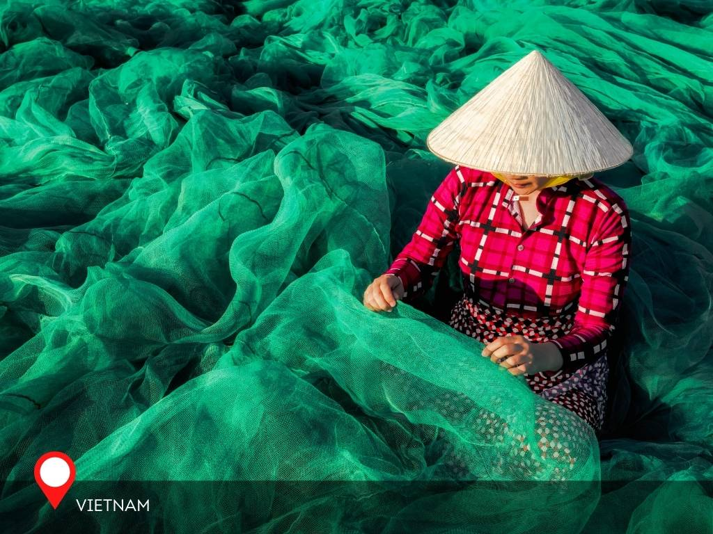 Non La, the Vietnamese hat, used by locals when fishing