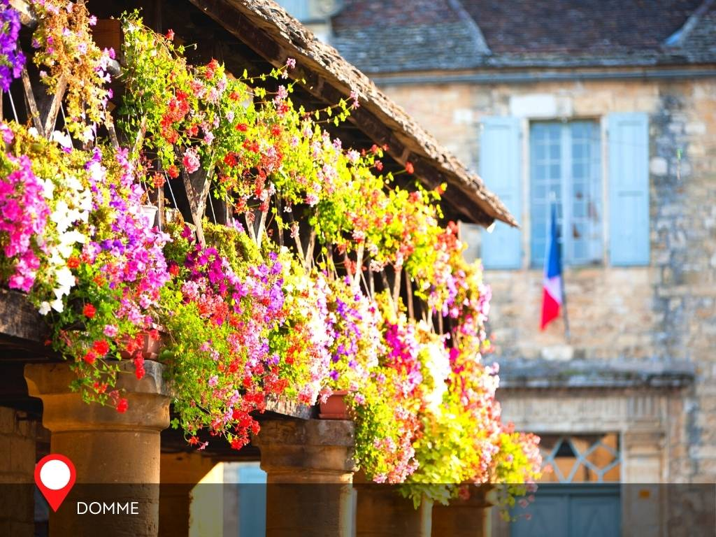 flowers in Domme, France