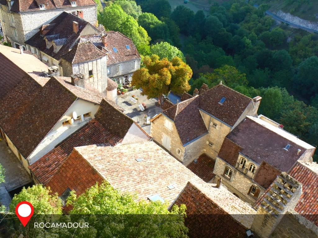 Rocamadour Village from top, France