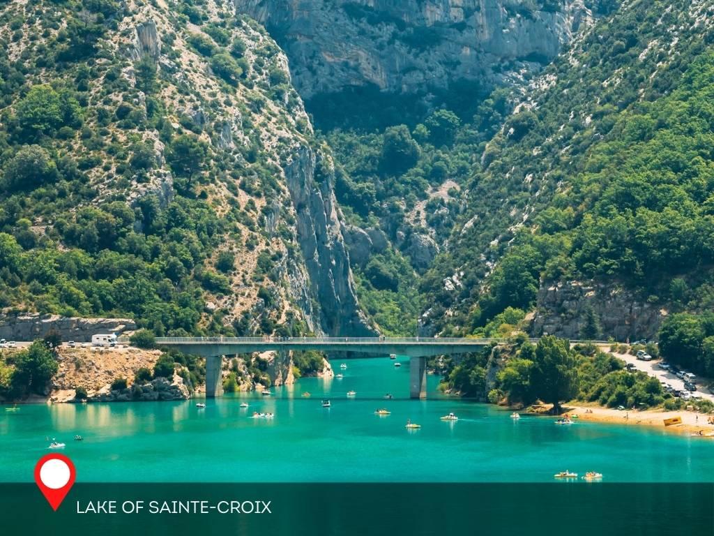 Lake of Sainte-Croix, Moustiers-Sainte-Marie, France