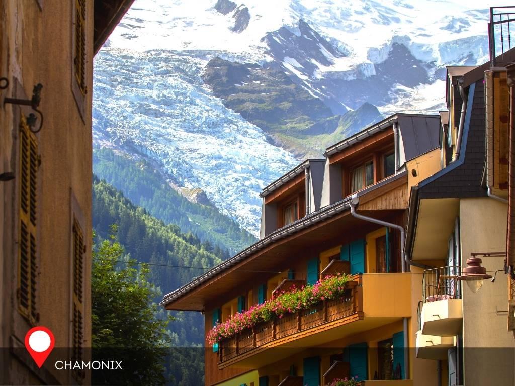 town, Chamonix, France