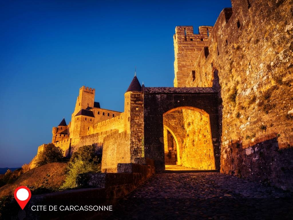 ramparts, Carcassonne, France