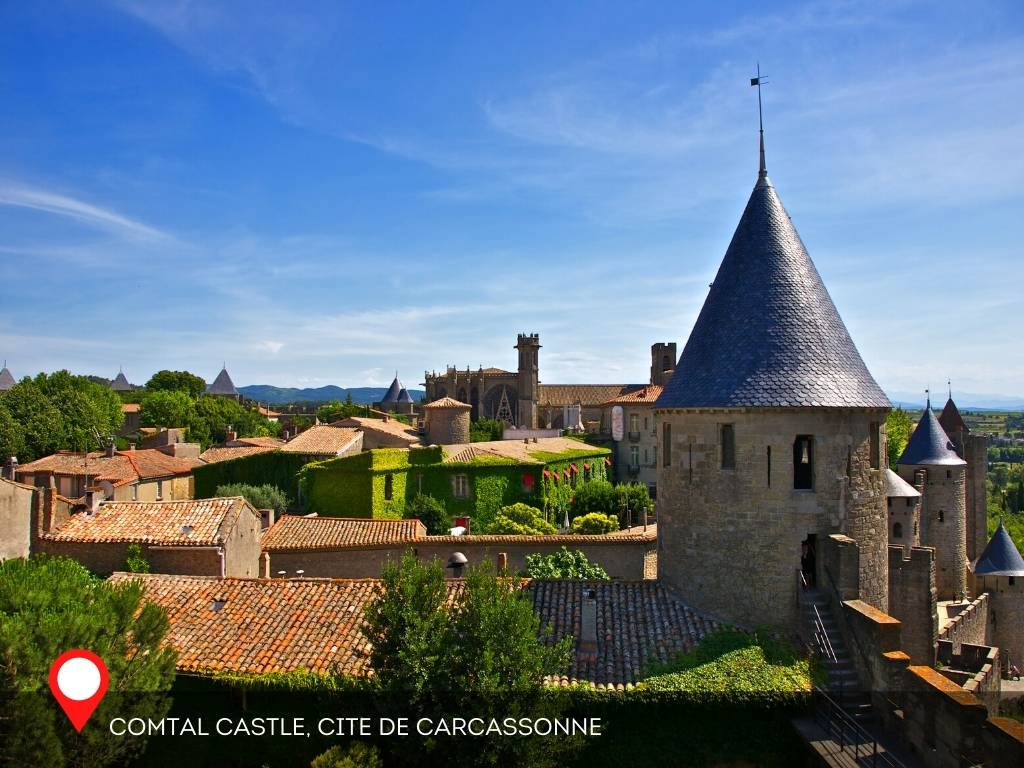 view from the sky, Carcassonne, France