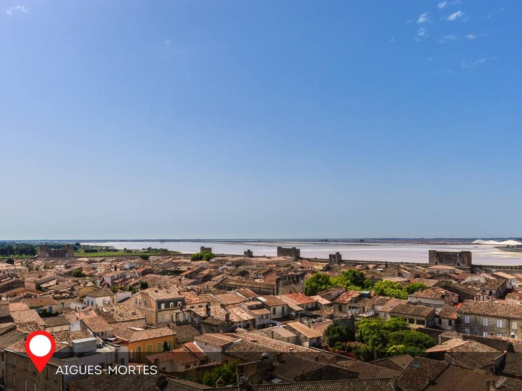 view from the ramparts, Aigues-Mortes, France