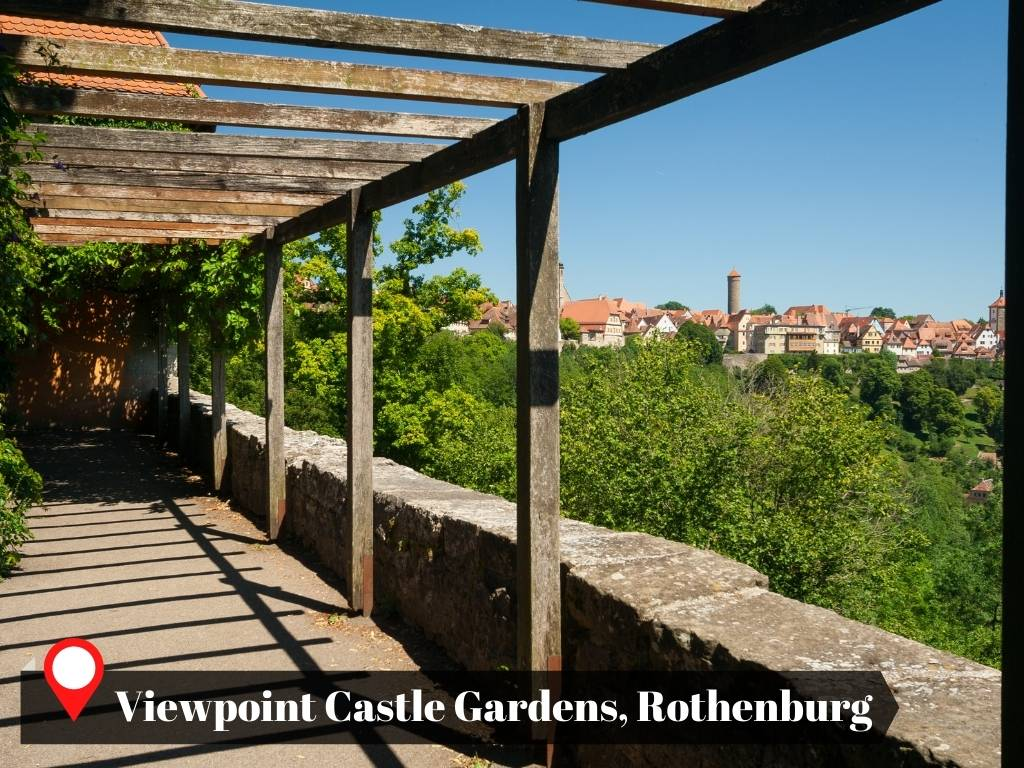 View Point, Castle Gardens, Rothenburg, Germany
