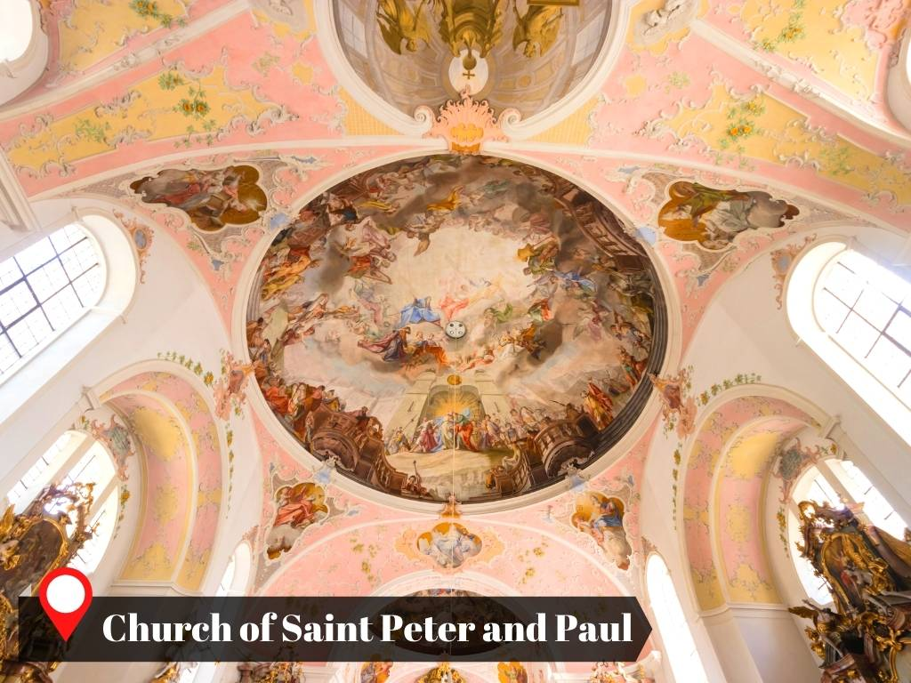 Frescos of the Church of Saint Peter and Paul, Oberammergau, Germany