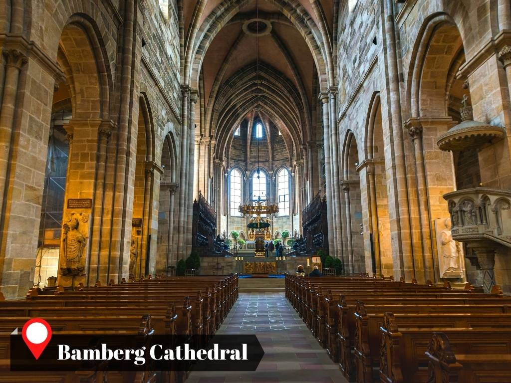 Inside Bamberg Cathedral, Germany