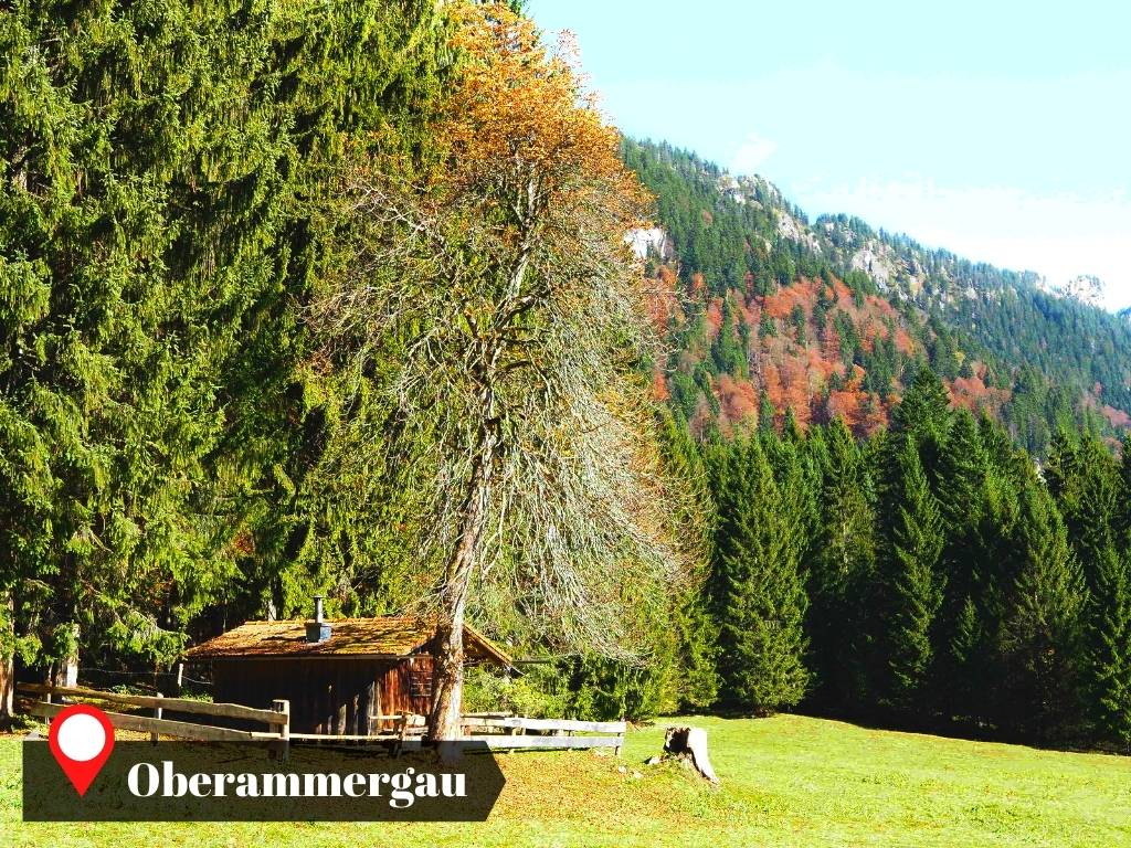 Countryside vibe in the meadows of Oberammergau, Germany