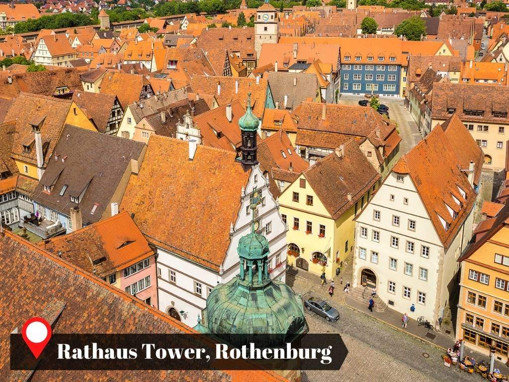 View from the tower of Rothenburg's Town Hall, Germany