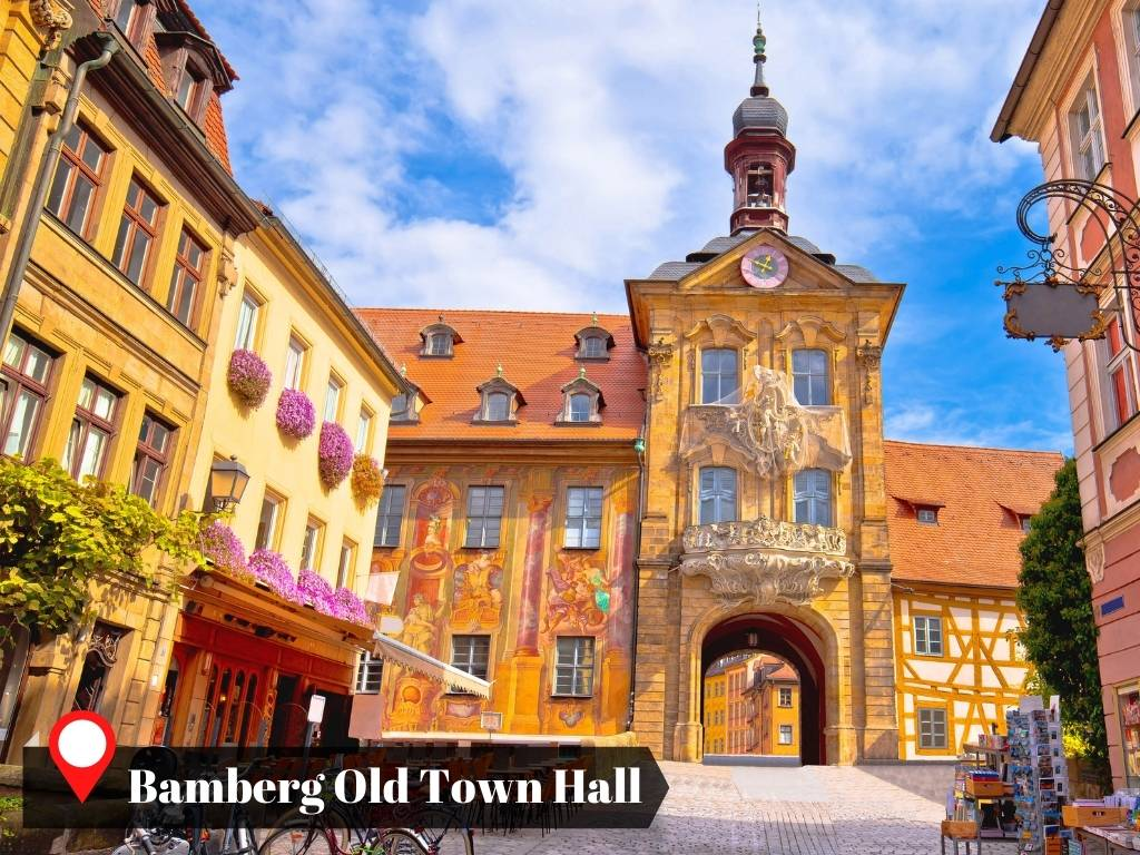 Sunny day in Bamberg Old Town Hall, Germany