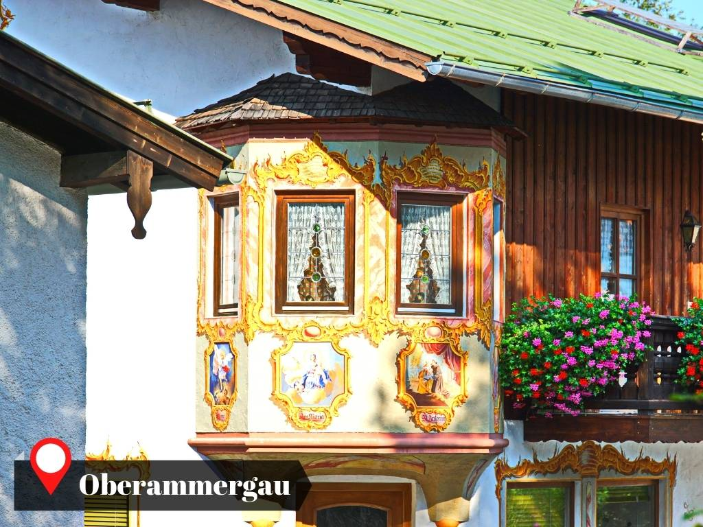 Beautiful House with Mural in Oberammergau, Germany